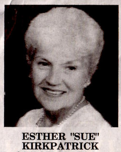 "Esther C ""Sue"" Kirkpatrick"