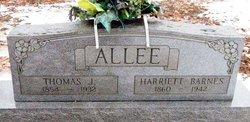 Harriett <I>Barnes</I> Allee