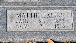 """Martha Exline """"Mattie"""" <I>Howard</I> Beeman"""