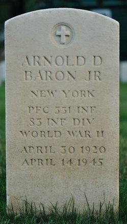 PFC Arnold D Baron, Jr