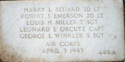 2LT Harry L Bedard