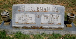 Willie Ethra <I>Cone</I> Coleman