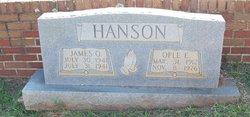 Ople E. <I>Finch</I> Hanson