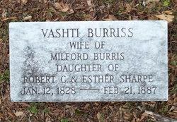 Vashti <I>Sharpe</I> Burris