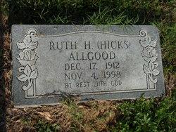 Ruth <I>Hicks</I> Allgood
