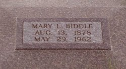 Mary Louise <I>Ehmke</I> Biddle