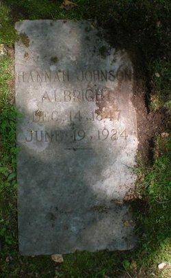 Hannah <I>Johnson</I> Albright