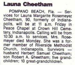 Launa Marguerite <I>Rosemeyer</I> Cheetham