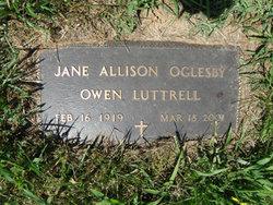 Jane Allison <I>Oglesby</I> Luttrell