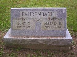 "Mrs Ella Alberta ""Alberta"" <I>Worthington</I> Fahrenbach"