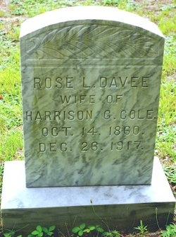 Rose Lillian <I>Davee</I> Cole