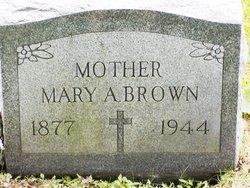 Mary A <I>Barrett</I> Brown