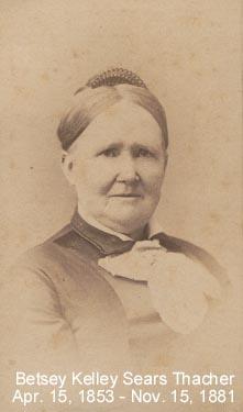 Betsey Kelley <I>Sears</I> Thacher