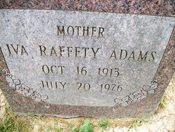 Iva <I>Rafferty</I> Adams