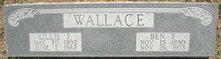 Lillie Florence <I>Pruitt</I> Wallace