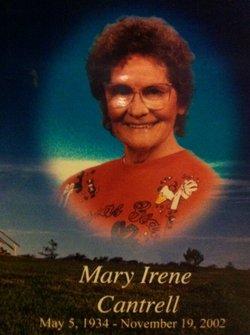 Mary Irene <I>Vaughn</I> Cantrell