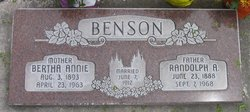 Bertha Annie <I>Nielson</I> Benson