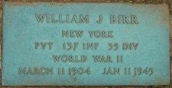 Pvt William J Birr