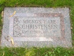 Mignon T <I>Lee</I> Christensen