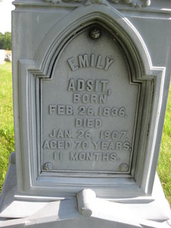 Emily Jane <I>Westcott</I> Adsit