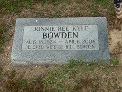 Jonnie Ree <I>Kyle</I> Bowden