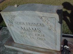 Nora Frances <I>Dunning</I> Adams