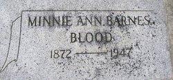 Minnie Ann <I>Barnes</I> Blood