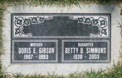 Betty Doris <I>Gibson</I> Simmons