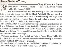 Anne Darlene <I>Whitfield</I> Young