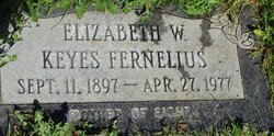 Elizabeth Keyes <I>Williams</I> Fernelius