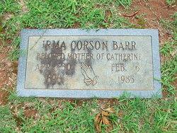 Irma <I>Corson</I> Barr