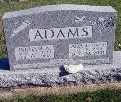 """Ada E """"Ann"""" <I>Barber</I> Adams"""