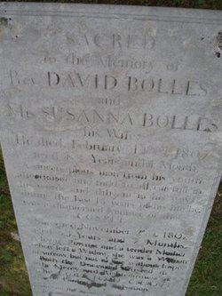 Rev David Bolles