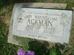 """Gary Wayne """"Jake"""" Ackman"""