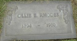 Ollie Everett Rhodes