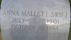 Anna <I>Mallett</I> Swift