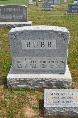 """Juniata Etta """"Junnie"""" <I>Carr</I> Bubb"""