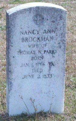 "Nancy Ann ""Annie"" <I>Brockman</I> Parks"