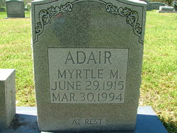 Myrtle M Adair