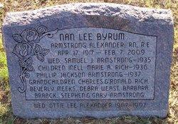 Nan Lee <I>Byrum</I> Alexander