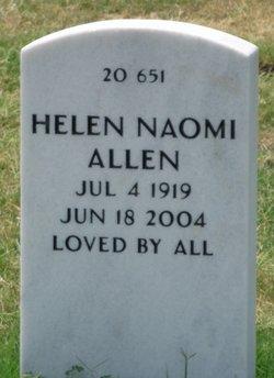 Helen Naomi <I>Patterson</I> Allen