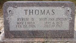 Mary Ann <I>Jordan</I> Thomas