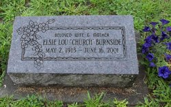 Elsie Lou <I>Lane (Church)</I> Burnside