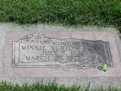 Minnie Alvira <I>Burton</I> Funk