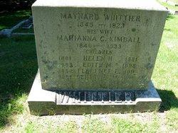 Marianna C <I>Kimball</I> Whittier