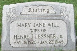 Mary Jane <I>Will</I> Lessner