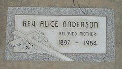 Rev Alice Anderson