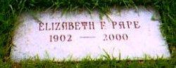 """Elizabeth Florence """"Betty"""" <I>Massmann</I> Pape"""