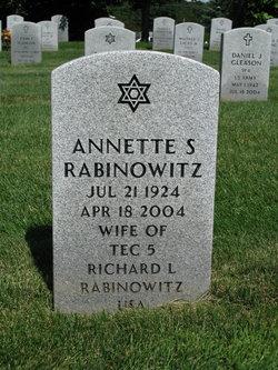 Annette <I>Schreiber</I> Rabinowitz