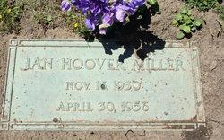 """Jeanetta Ruth """"Jan"""" <I>Hoover</I> Miller"""